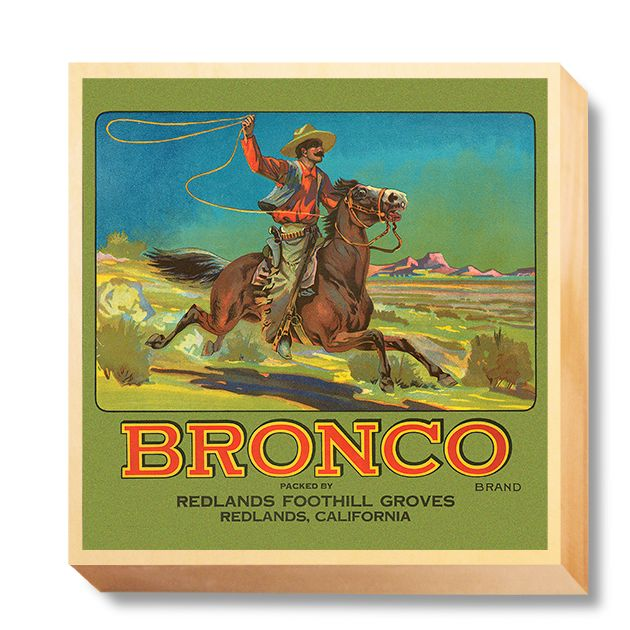LAB 038 Crate Label Bronco Redlands