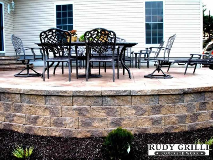 raised patio stamped concrete - Google Search