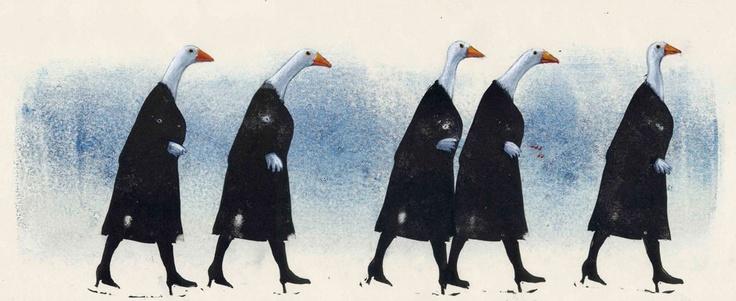 "segui / follow  tullio corda's illustration  from the series ""esercizi di tanatosi"""