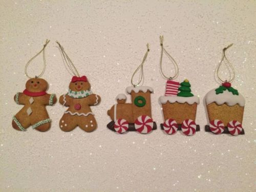 fake gingerbread ornaments