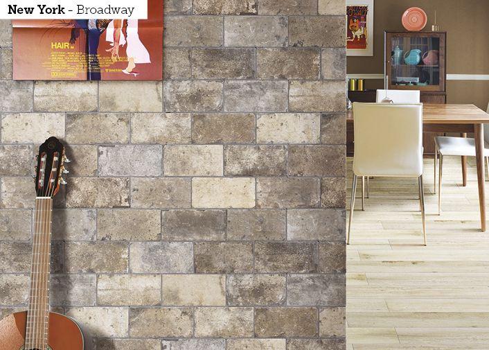 New York on monikäyttöinen ja näyttävä laattasarja joka sopii täydellisesti niin seiniin kuin lattiaankin. Laatoissa on rustiikkinen tunnelma ja kauniit harmaan eri sävyt.