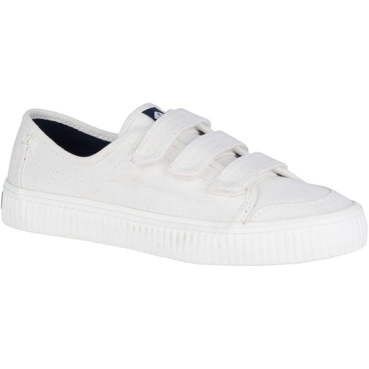 SPERRY Women's Crest Creeper Loop Sneaker - White. #sperry #shoes #