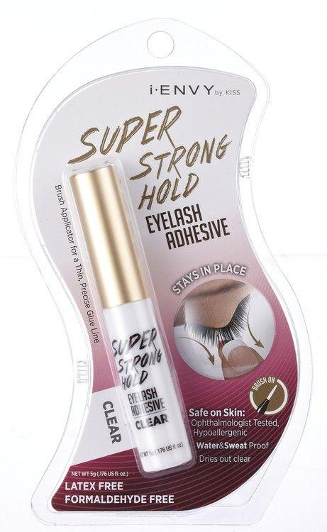 Kiss i ENVY Strip Eyelash Adhesive Glue Odor Free-Jet Black, latex free eyelash glue, eye lash glue, best eyelash glue, strong glue, super flex, Clear