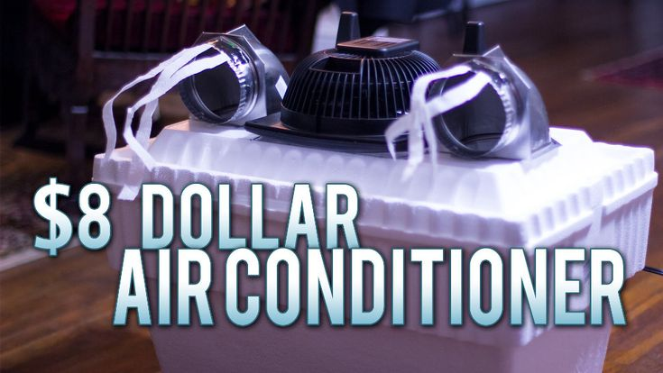 Air conditioners can cost hundreds of dollars! But as the summer heats up, you definitely need to stay cool somehow. If you have eight bucks and a fan, you can have an air conditioner that looks like it actually works pretty well. Watch this quick video to learn how to make it.