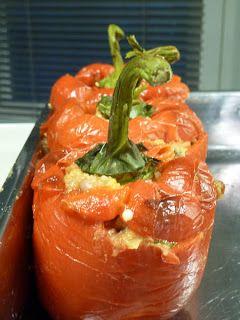 Winny, wat eten we vandaag?: Gegrilde en gevulde paprika,s