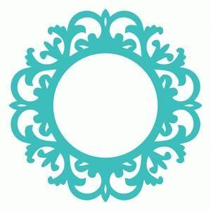 Silhouette Design Store - View Design #107026: vintage ornate swirl round frame