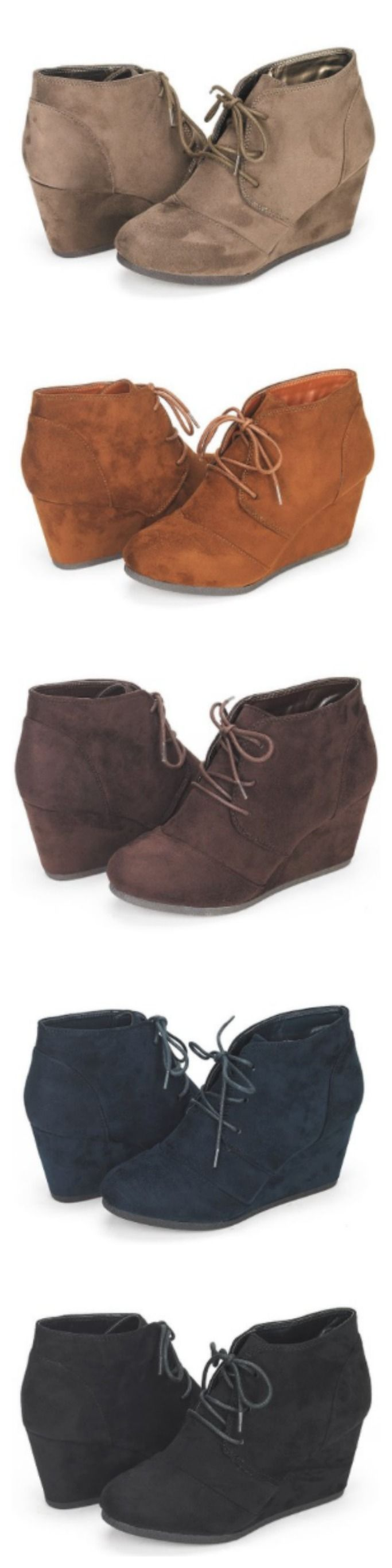 Fall Ankle Boots! We are OBSESSED with ankle boots in the fall! I have these ones and they are super cute, super comfortable, and SUPER reasonably priced! Who doesn't love a good deal?! Makes me want to get another pair in a different color! {aff}