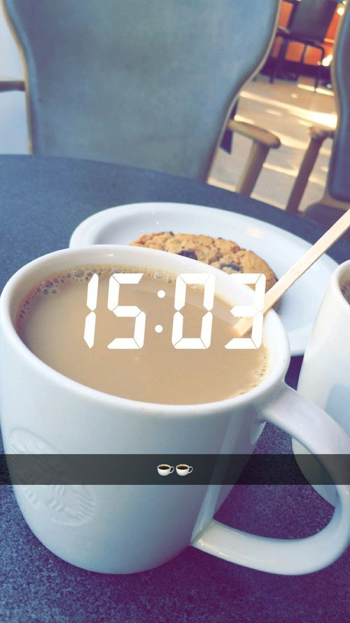 coffee, girl, and cookie image
