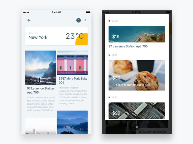 A travel concept project of mobile app.