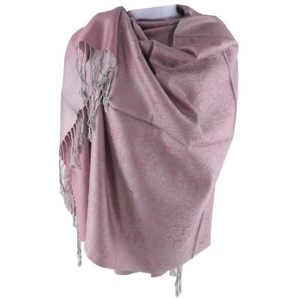 Silver Fever Jacquard Paisley Pashmina Shawl Scarf Stole (16 CAD) ❤ liked on Polyvore featuring accessories, scarves, silver wrap shawl, silver scarves, paisley shawl, wrap scarves and silver shawl