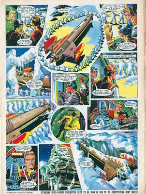 Fireball XL5 by Mike Noble, from TV21 #bestofBritishComics
