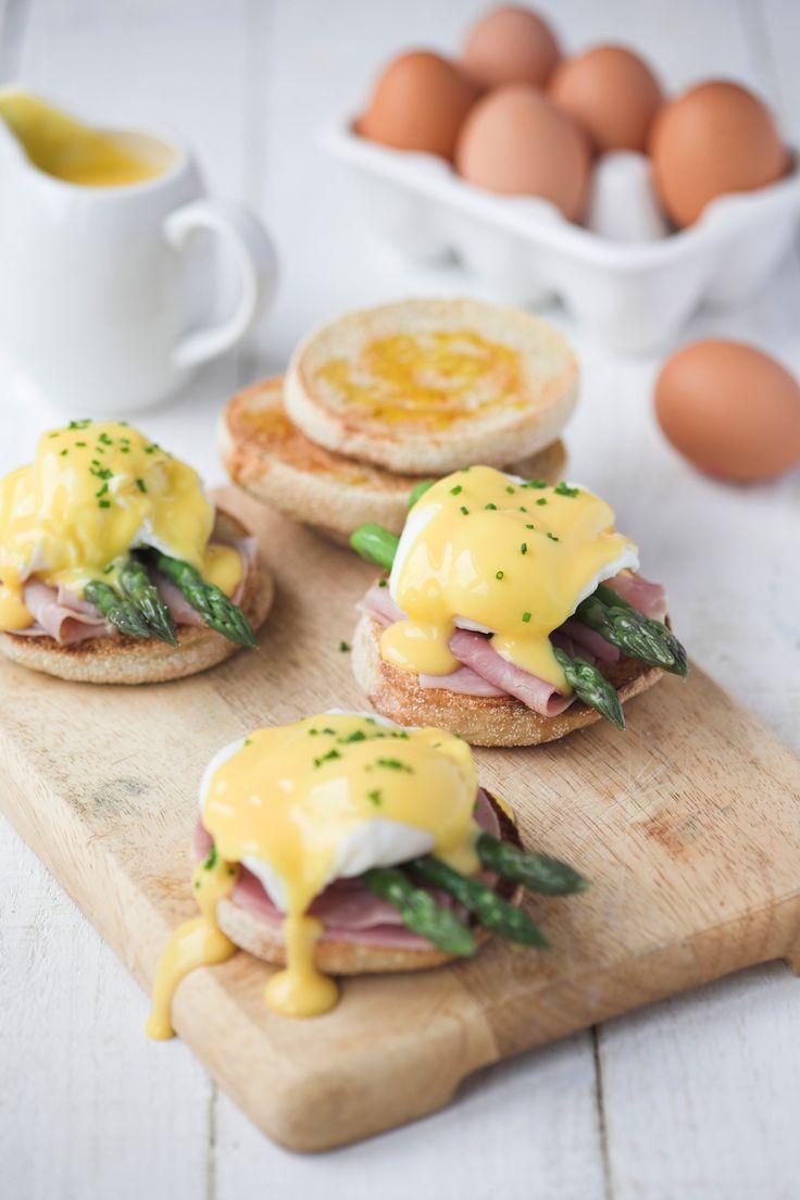 asparagus ham eggs benedict