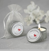 40th Anniversary - Candle Tin Personalized Anniversary Favors