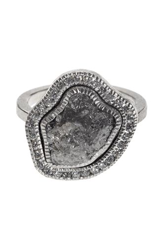 Todd Reed Raw Diamond Palladium Ring