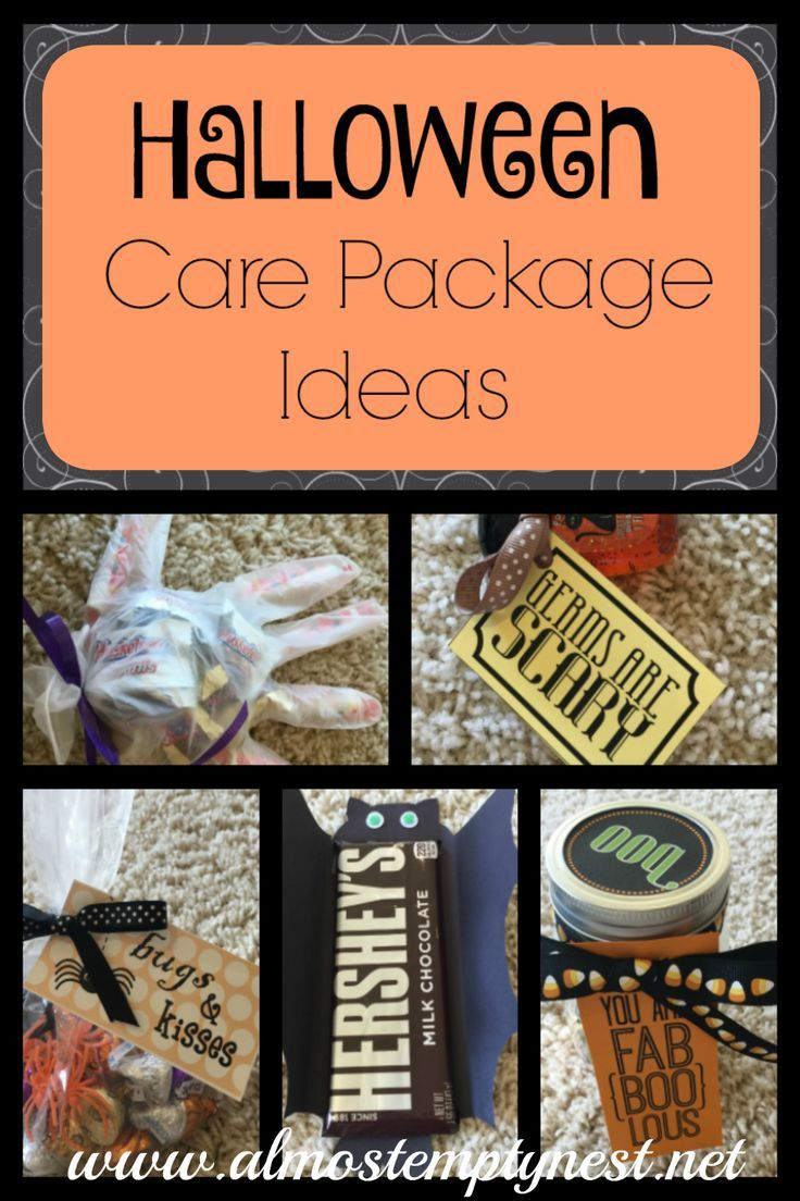 Halloween Care Packages with FREE Printables