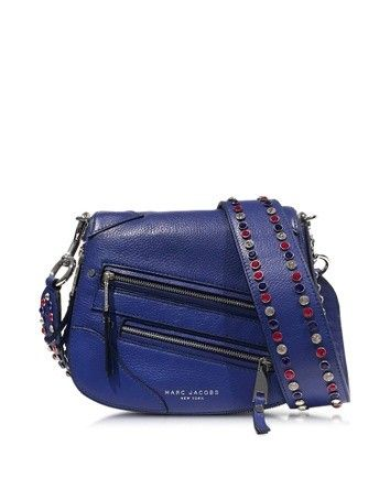 PYT COBALT BLUE LEATHER SMALL SADDLE BAG MARC JACOBS