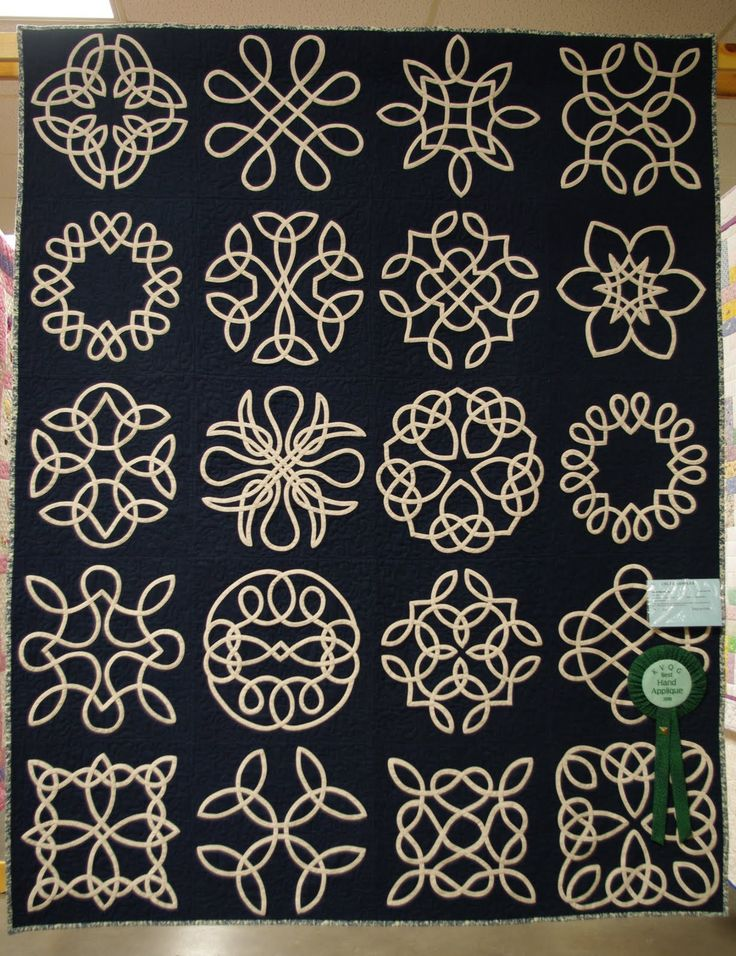 celtic knot applique sampler  this is what I would like to do, start with one block and see how it goes. this is way cool