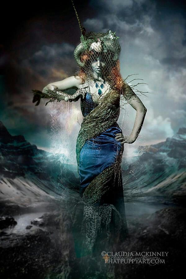 I want to incorporate the raggedy material into our sea witch costume and the scaley make-up. maybe some fishnet gloves?
