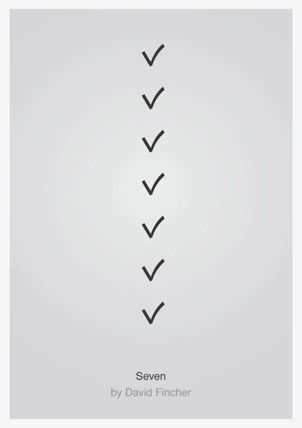 Seven - Minimalist Movie Poster