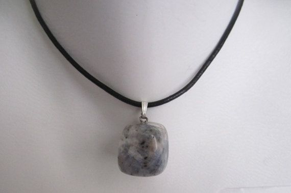 Natural stone pendant necklace Natural Healing by selshe on Etsy