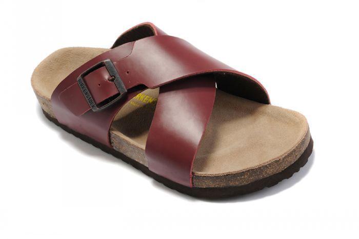 Women's Birkenstock Guam Sandals Oiled Leather Maroon
