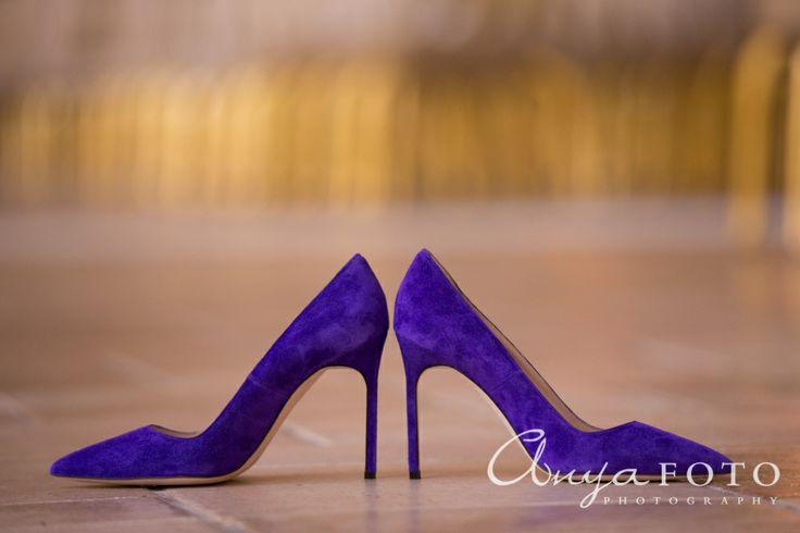 anyafoto.com, bridal shoes, wedding shoes, heels, purple heels, suede heels