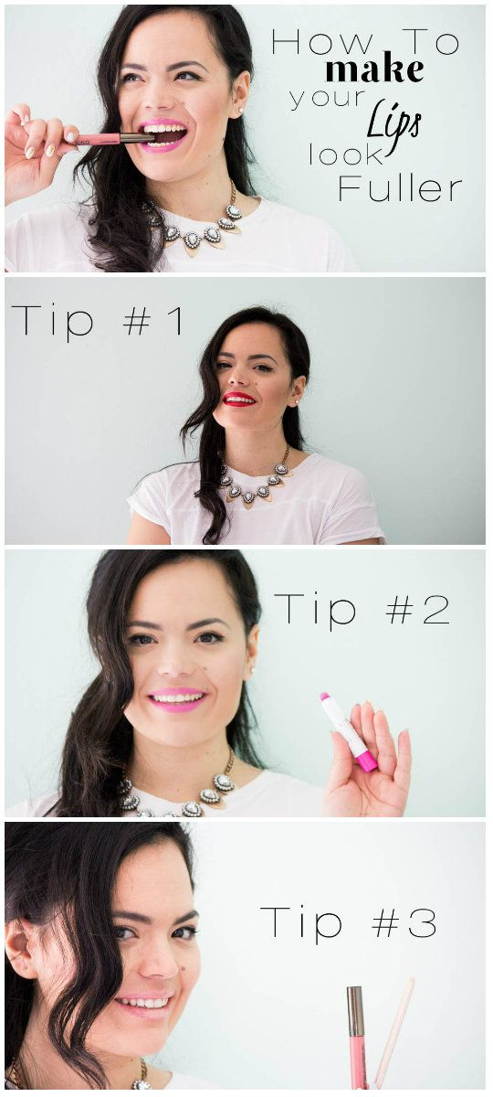 How to make your lips look fuller! 3 ways now on www.thedailylace.com