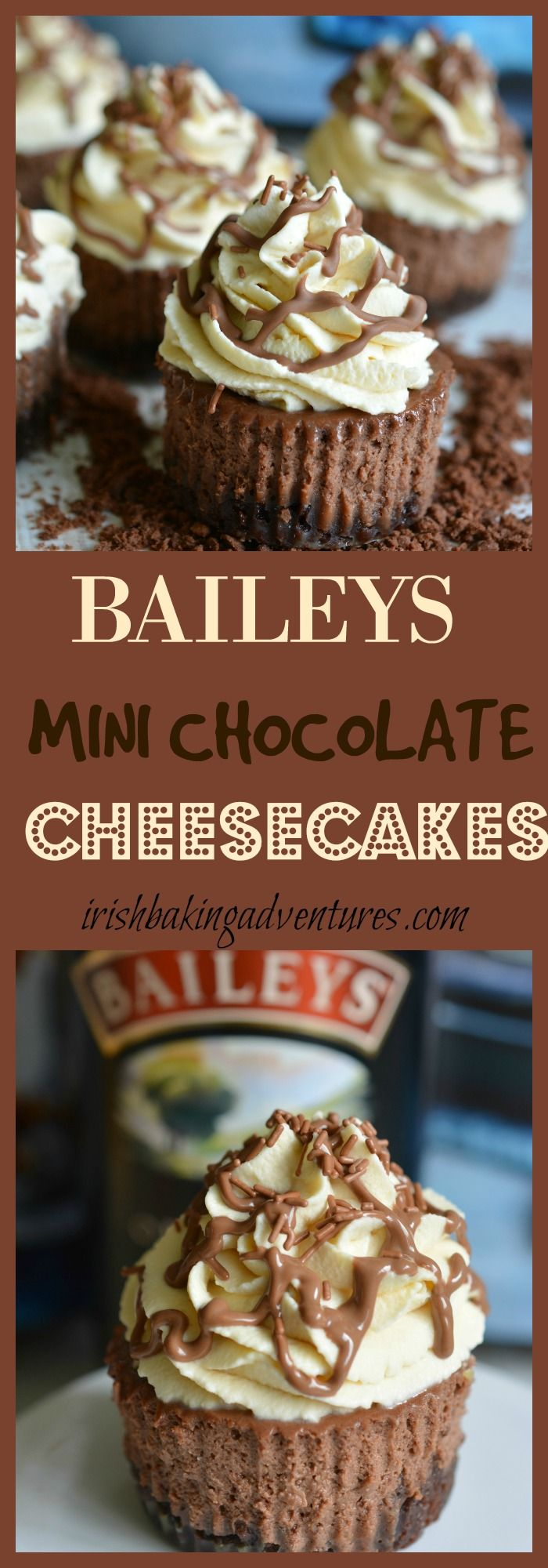try this Mini Baileys Cheesecake with a bourbon biscuit base, Baileys cheesecake filling & Baileys whipped cream to top things off. BAILEYS HEAVEN
