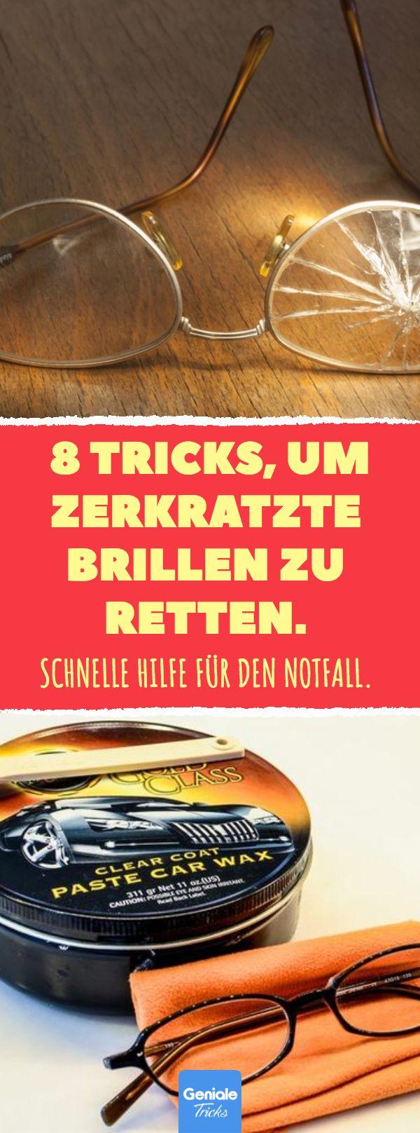 8 Tricks, um zerkratzte Brillen zu retten. #kratzer #zerkratzte #brille #life #hacks