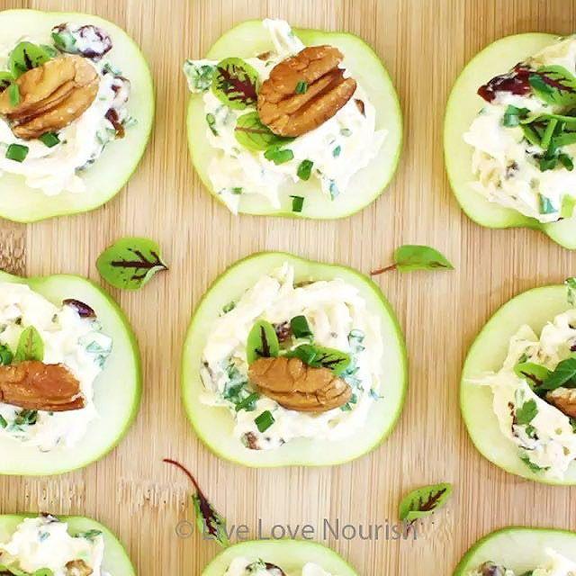 Apple Bites With Turkey, Cranberry & Creamy Coconut Yogurt via @feedfeed on https://thefeedfeed.com/livelovenourishaus/apple-bites-with-turkey-cranberry-creamy-coconut-yogurt