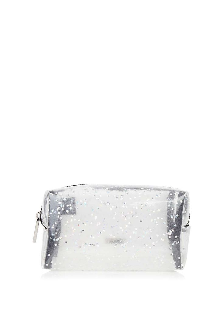 **Clear Star Glitter Make Up Bag by Skinnydip