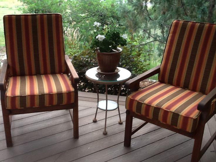 Blue And White Striped Chaise Lounge Cushions Of Sunbrella Stripe Cushions 8031 Dimone Sequoia Fabric