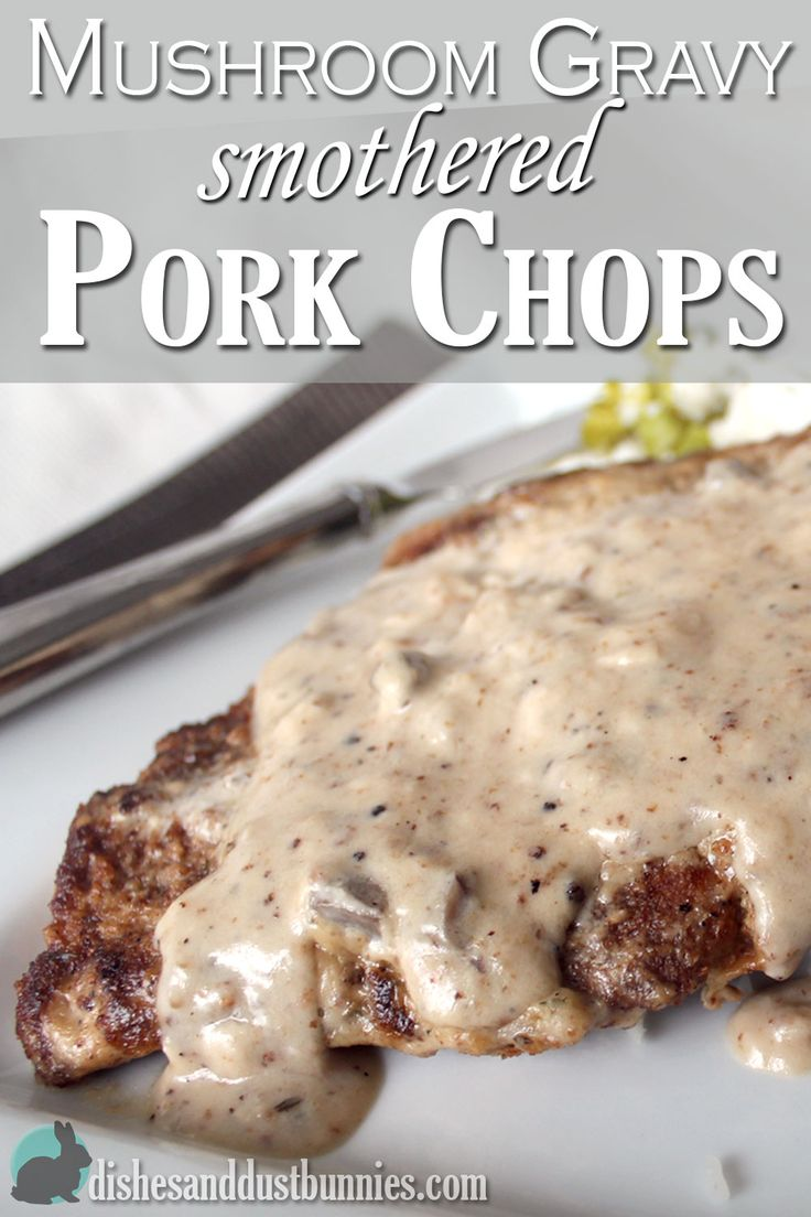 These delicious breaded pork chops smothered in mushroom gravy are so easy to make