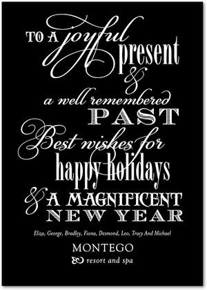 The 25 best business holiday cards ideas on pinterest business business holiday cards inspirational inscription front black reheart Image collections
