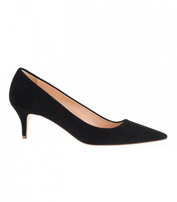 J. Crew Dulci Suede Kitten Heels in Black // Black heels