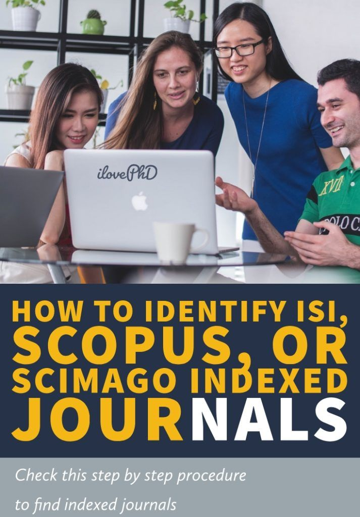 How to Identify ISI, Scopus, or Scimago Indexed journals