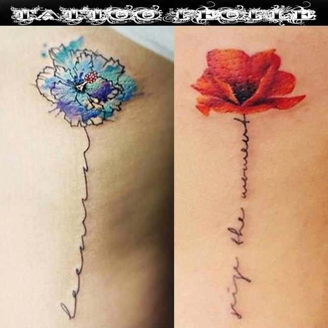 Tattoo Designs Writing: Like The Writing Idea On The Red, Love The Color Pop On