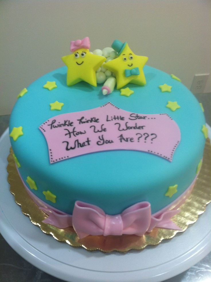 ideas cakes galor cakes twinkle gender reveal cakes baby cakes
