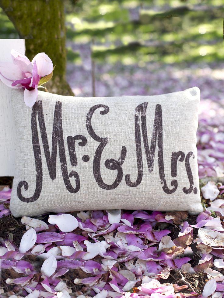 202 best wedding bliss images on pinterest bliss beach dresses altard state mr mrs burlap woven pillow i wedding decor i wedding present i handmade pillows junglespirit Choice Image