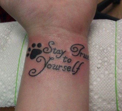 101 best tattoos images on pinterest for Quote wrist tattoos