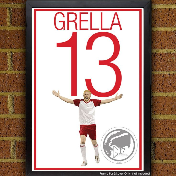 Mike Grella 13 New York Red Bulls Poster - MLS - Usa Soccer Poster- 8x10, 8.5x11, 13x19, poster art, wall decor home, red bulls print by Graphics17 on Etsy