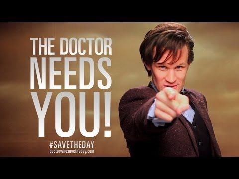 Hashtag. What's a hashtag? - #SaveTheDay - Doctor Who: The Day of the Doctor - BBC - YouTube