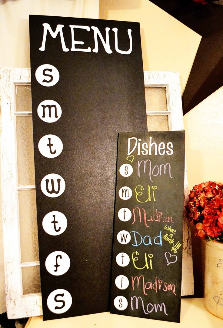 Sarival Sisters News  menu board, I really need to make both of these! Then there are no arguments