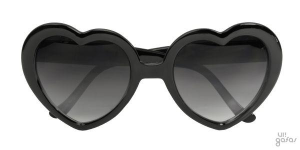 Óculos De Sol Retrô Estilo Lolita Formato De Coração Vermelho Em Acetato    Ui! Gafas