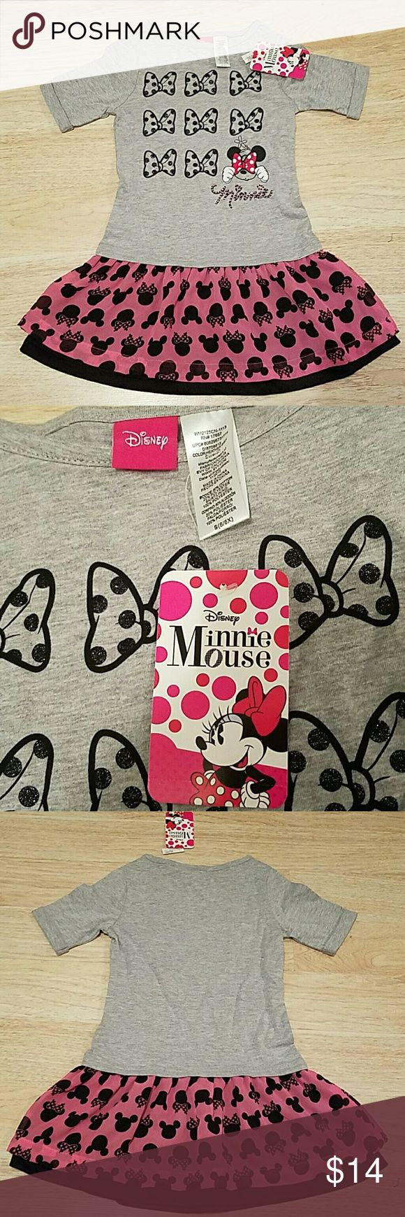 NWT Authentic Disney Girls Minnie Mouse Dress 2 available, both size 6/6X. Authentic Disney brand and just adorable! Disney Dresses
