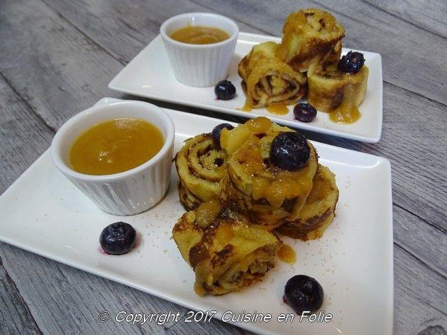 Cuisine en folie: Crêpes roulées aux pommes façon Tatin, coulis pommes caramel à la fleur de sel