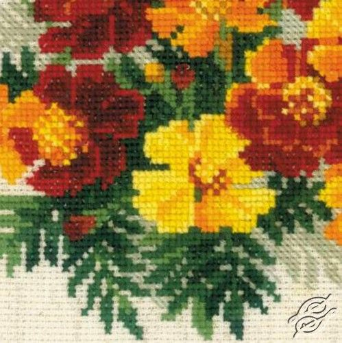 NEW - Marigolds - Gvello Stitch