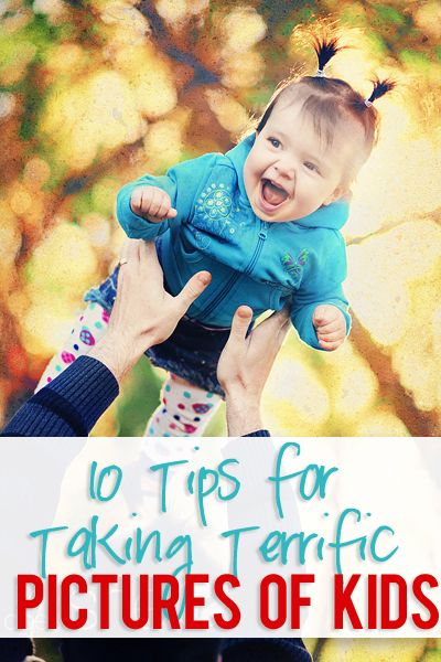 10 Tips For Taking Terrific Pictures of Your Kids! {Includes: timing, perspective, attitude, conversation, composition, original ideas, and more!}
