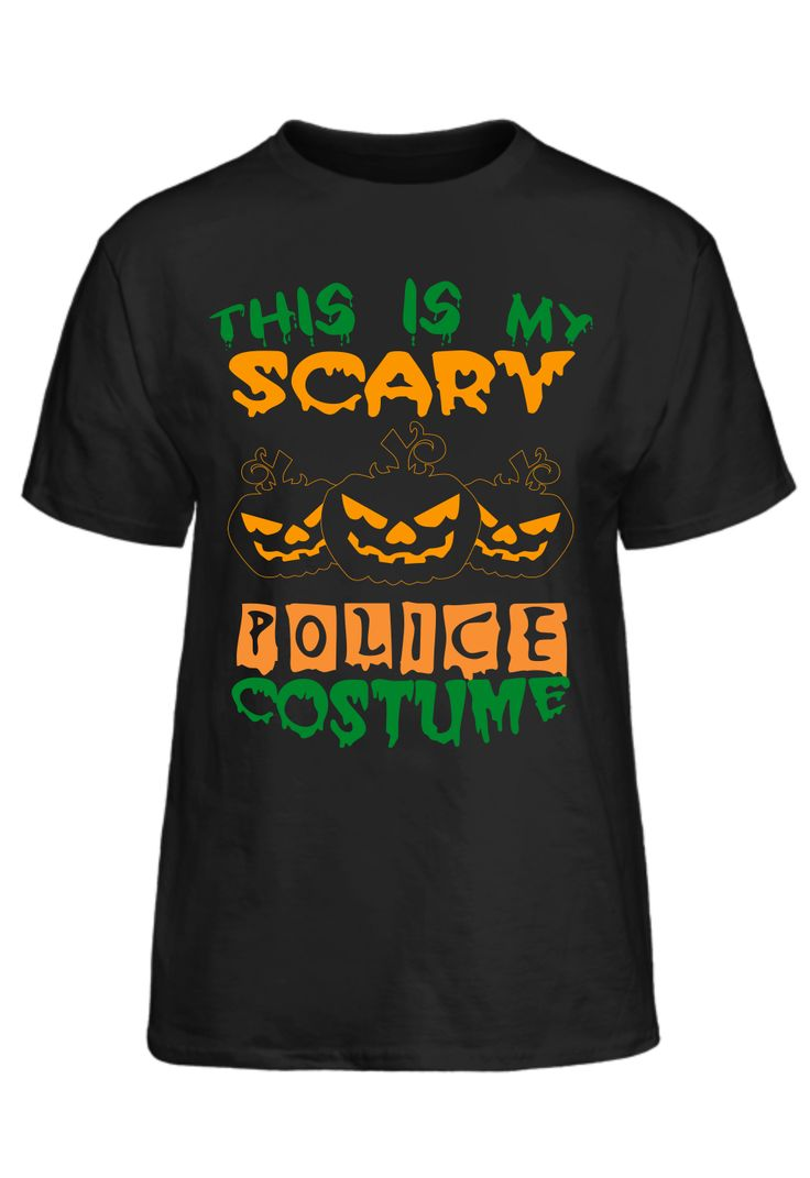 Halloween Shirt - This Is My Scary Police Costume T-Shirt