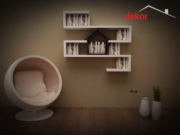 Değişik duvar rafları modern tasarımları ile dikkat çekiyor. Evinizin duvarları hoş bir görünüme kavuşsun http://www.dekorister.com.tr/sayfa/degisik-duvar-raflari